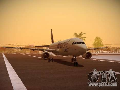 Airbus A320-214 LAN Oneworld for GTA San Andreas left view