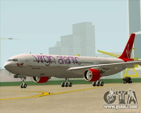 Airbus A330-300 Virgin Atlantic Airways for GTA San Andreas back left view