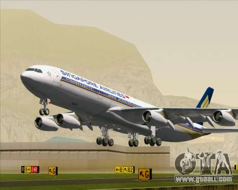 Airbus A340-313 Singapore Airlines for GTA San Andreas
