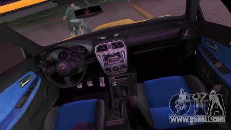 Subaru Impreza WRX STI 2006 Type 2 for GTA Vice City side view