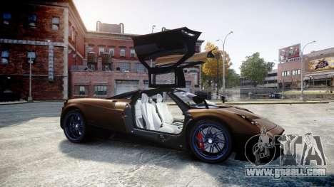 Pagani Huayra 2013 for GTA 4 side view