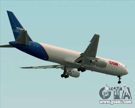 Boeing 767-300ER F TAM Cargo for GTA San Andreas wheels
