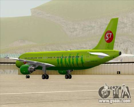 Airbus A320-214 S7-Siberia Airlines for GTA San Andreas back left view