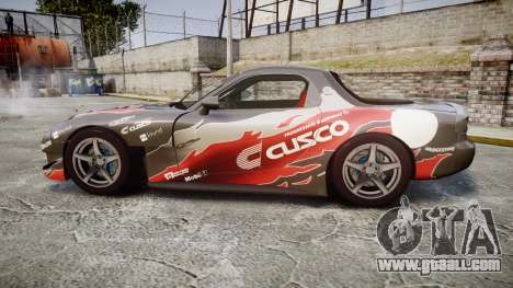 Mazda RX-7 Cusco for GTA 4 left view