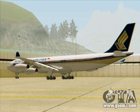 Airbus A340-313 Singapore Airlines for GTA San Andreas right view