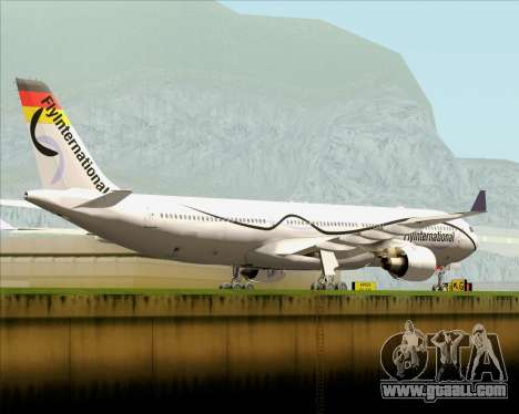 Airbus A330-300 Fly International for GTA San Andreas right view