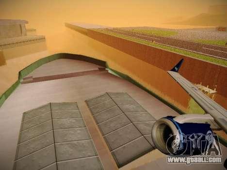 Embraer E190 Azul Tudo Azul for GTA San Andreas bottom view