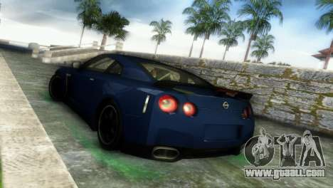 Nissan GT-R SpecV Black Revel for GTA Vice City right view