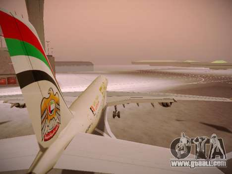 Airbus A340-600 Etihad Airways for GTA San Andreas wheels