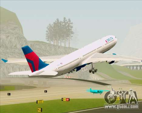 Airbus A330-300 Delta Airlines for GTA San Andreas interior