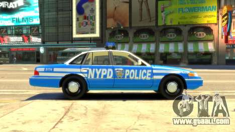 Ford Crown Victoria 1994 NYPD for GTA 4 left view