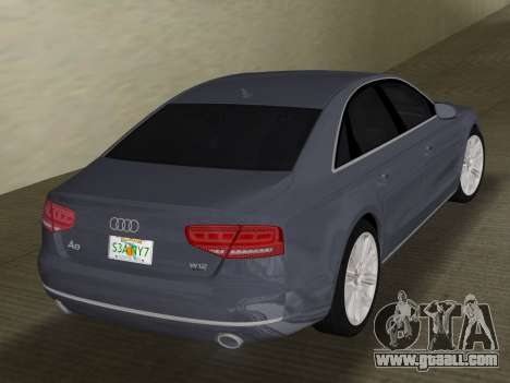 Audi A8 2010 W12 Rim1 for GTA Vice City right view