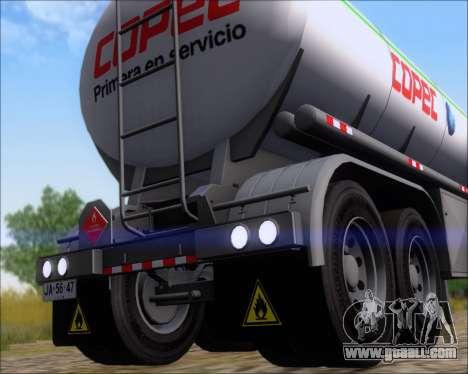Trailer tank Carro Copec for GTA San Andreas back view