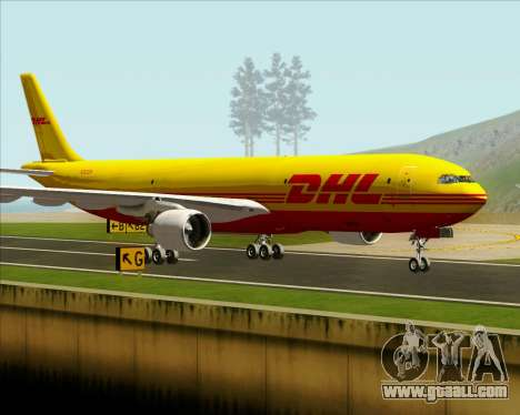 Airbus A330-300P2F DHL for GTA San Andreas inner view