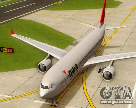 Airbus A330-300 Northwest Airlines for GTA San Andreas side view