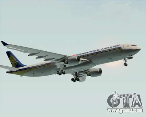 Airbus A330-300 Singapore Airlines for GTA San Andreas inner view
