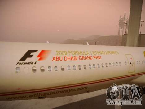 Airbus A340-600 Etihad Airways for GTA San Andreas engine
