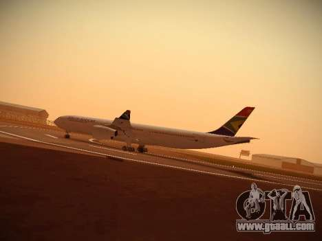 Airbus A340-300 South African Airways for GTA San Andreas left view