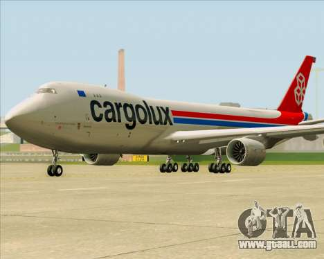 Boeing 747-8 Cargo Cargolux for GTA San Andreas side view