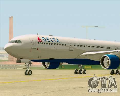 Airbus A330-300 Delta Airlines for GTA San Andreas inner view