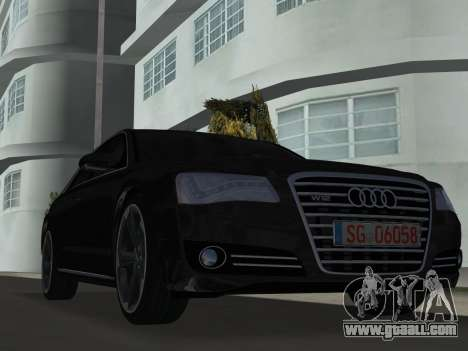 Audi A8 2010 W12 Rim6 for GTA Vice City left view
