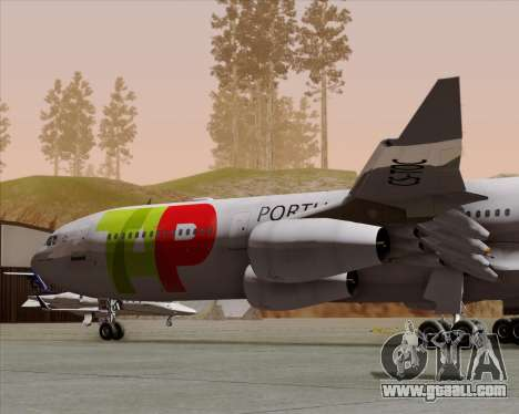 Airbus A340-312 TAP Portugal for GTA San Andreas side view