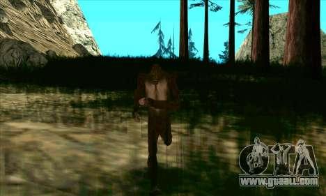 Sasquatch (Bigfoot) on mount Chiliad for GTA San Andreas third screenshot