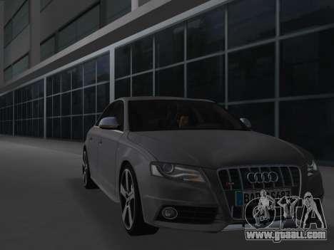 Audi S4 (B8) 2010 - Metallischen for GTA Vice City left view
