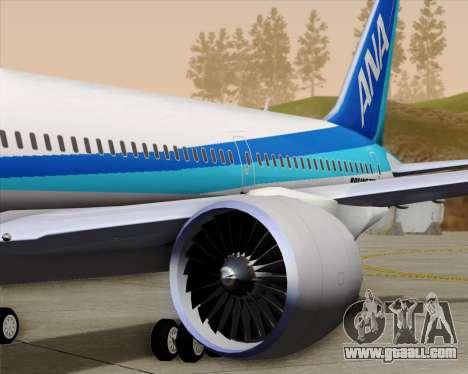 Boeing 787-9 All Nippon Airways for GTA San Andreas wheels