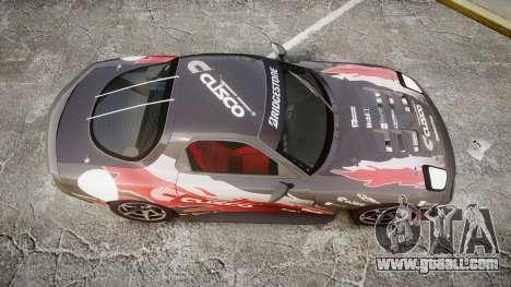 Mazda RX-7 Cusco for GTA 4 right view