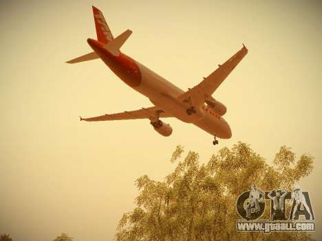 Airbus A320-214 TAM Airlines for GTA San Andreas bottom view