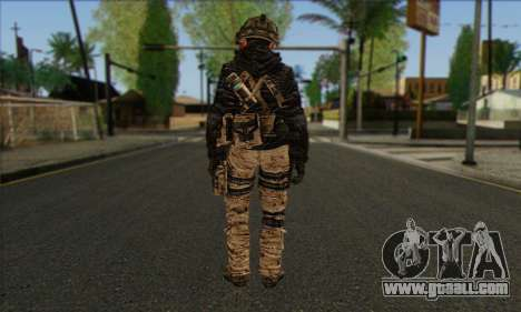 Task Force 141 (CoD: MW 2) Skin 14 for GTA San Andreas second screenshot