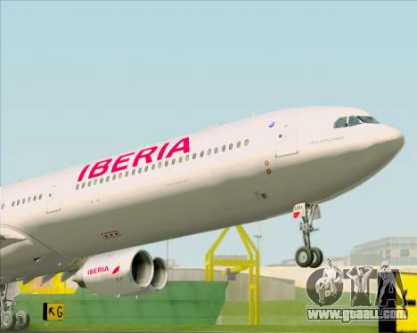 Airbus A340-642 Iberia Airlines for GTA San Andreas back view