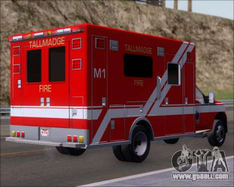 Ford F-350 Super Duty TFD Medic 1 for GTA San Andreas right view
