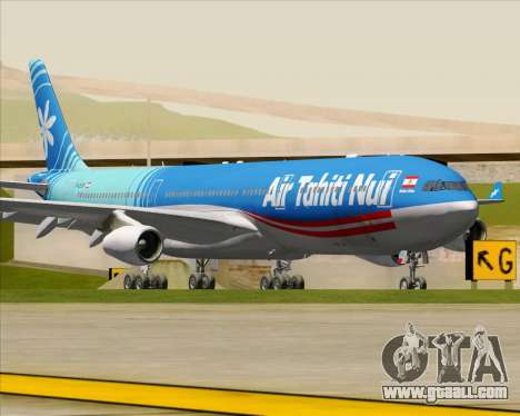 Airbus A340-313 Air Tahiti Nui for GTA San Andreas left view