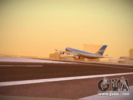 Airbus A340-300 Aerolineas Argentinas for GTA San Andreas right view