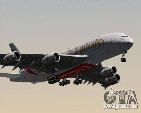 Airbus A380-841 Emirates for GTA San Andreas inner view