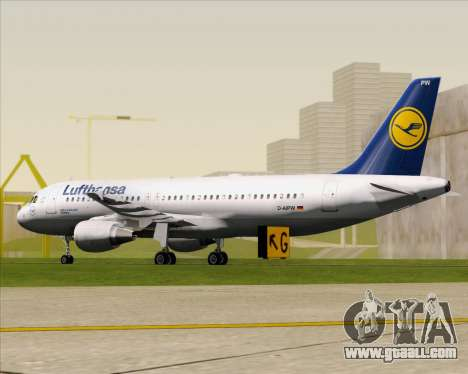 Airbus A320-211 Lufthansa for GTA San Andreas back left view