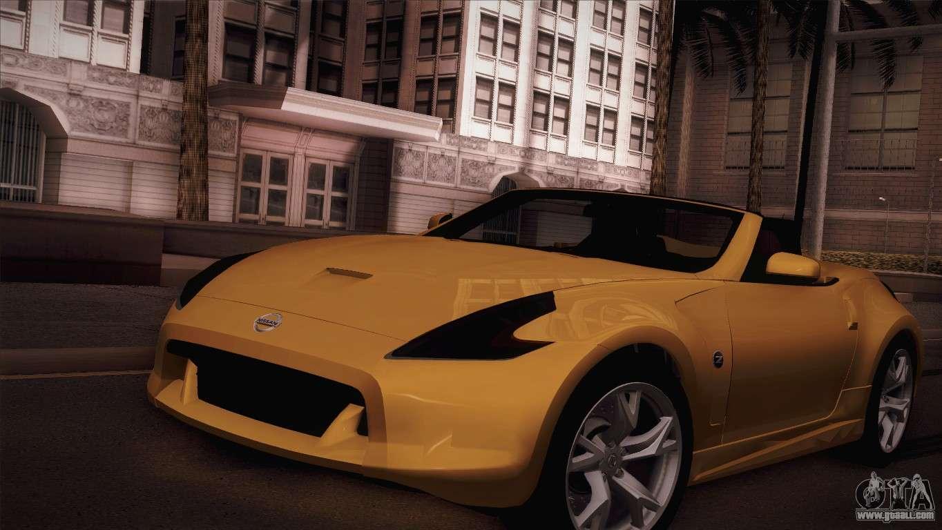 nissan 370z roadster for gta san andreas. Black Bedroom Furniture Sets. Home Design Ideas