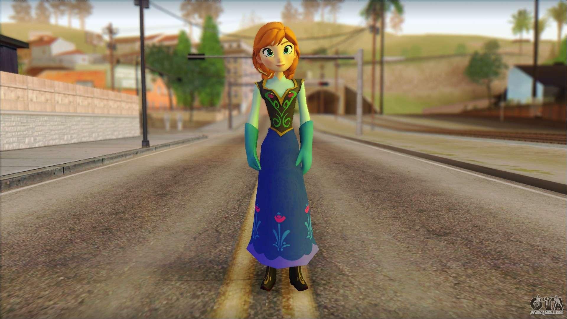 Princess Anna Frozen For Gta San Andreas