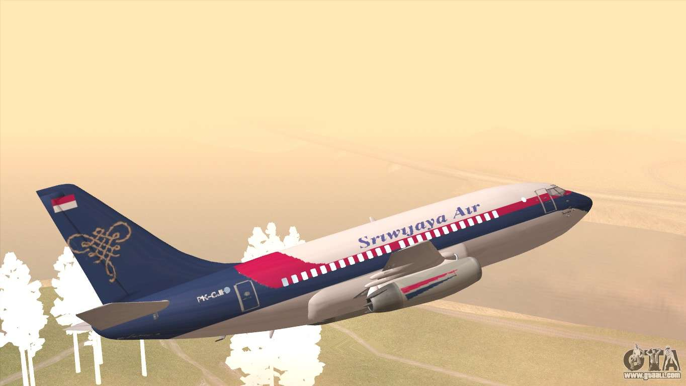 Indonesian Plane Sriwijaya Air for GTA San Andreas