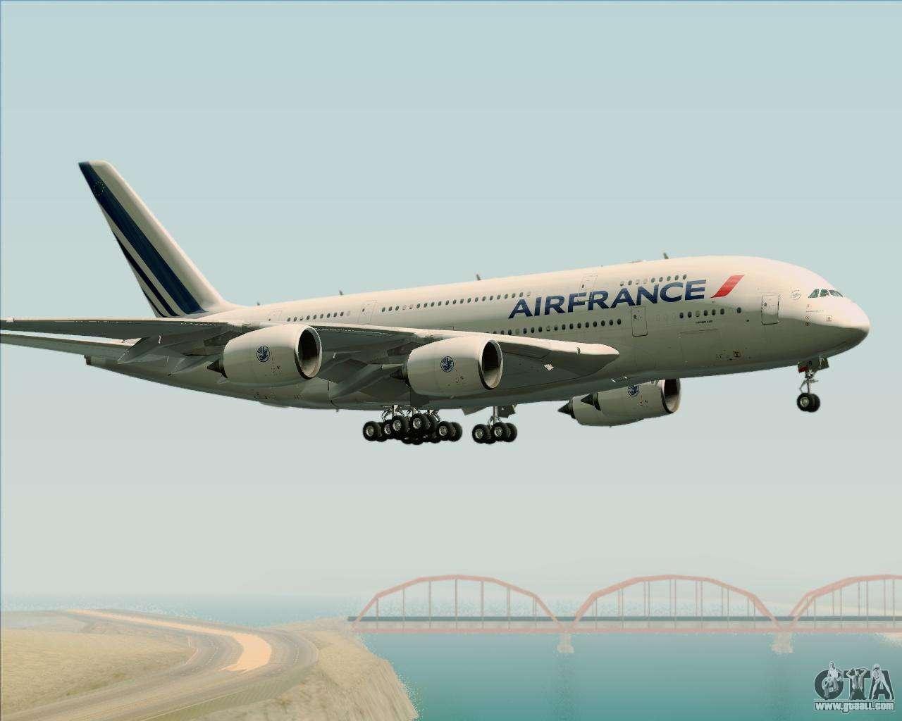 Airbus A380 861 Air France For Gta San Andreas