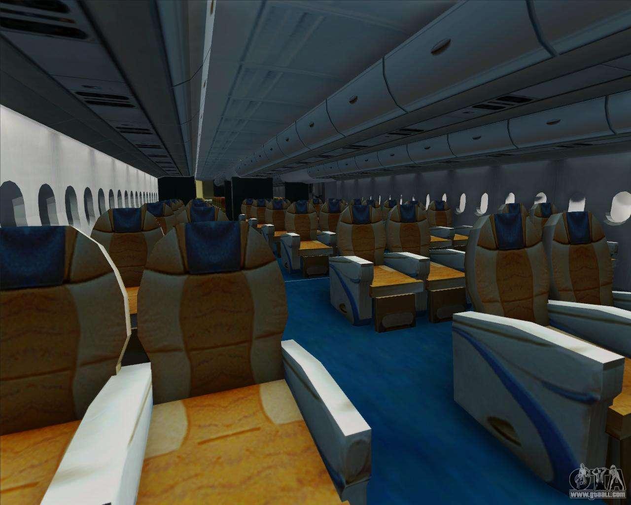 Airbus a380 861 for gta san andreas for Gta sa plane interior mod