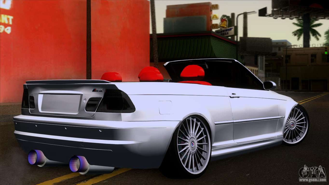 Bmw E46 M3 >> BMW M3 E46 Cabrio for GTA San Andreas