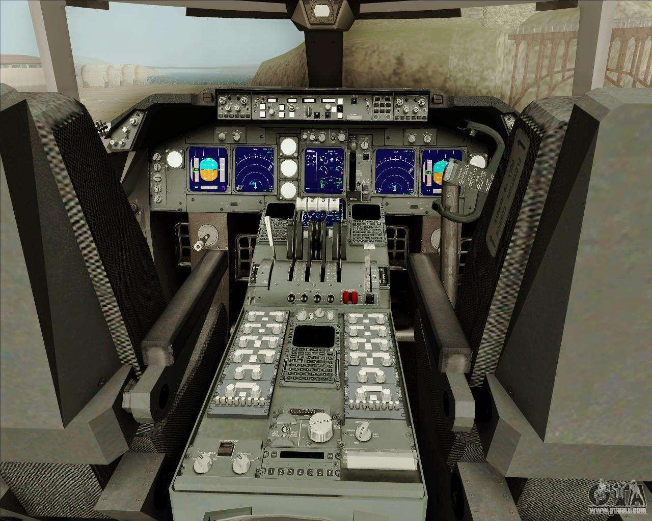 Boeing 747 8 cargo cathay pacific cargo for gta san andreas for Gta sa plane interior mod