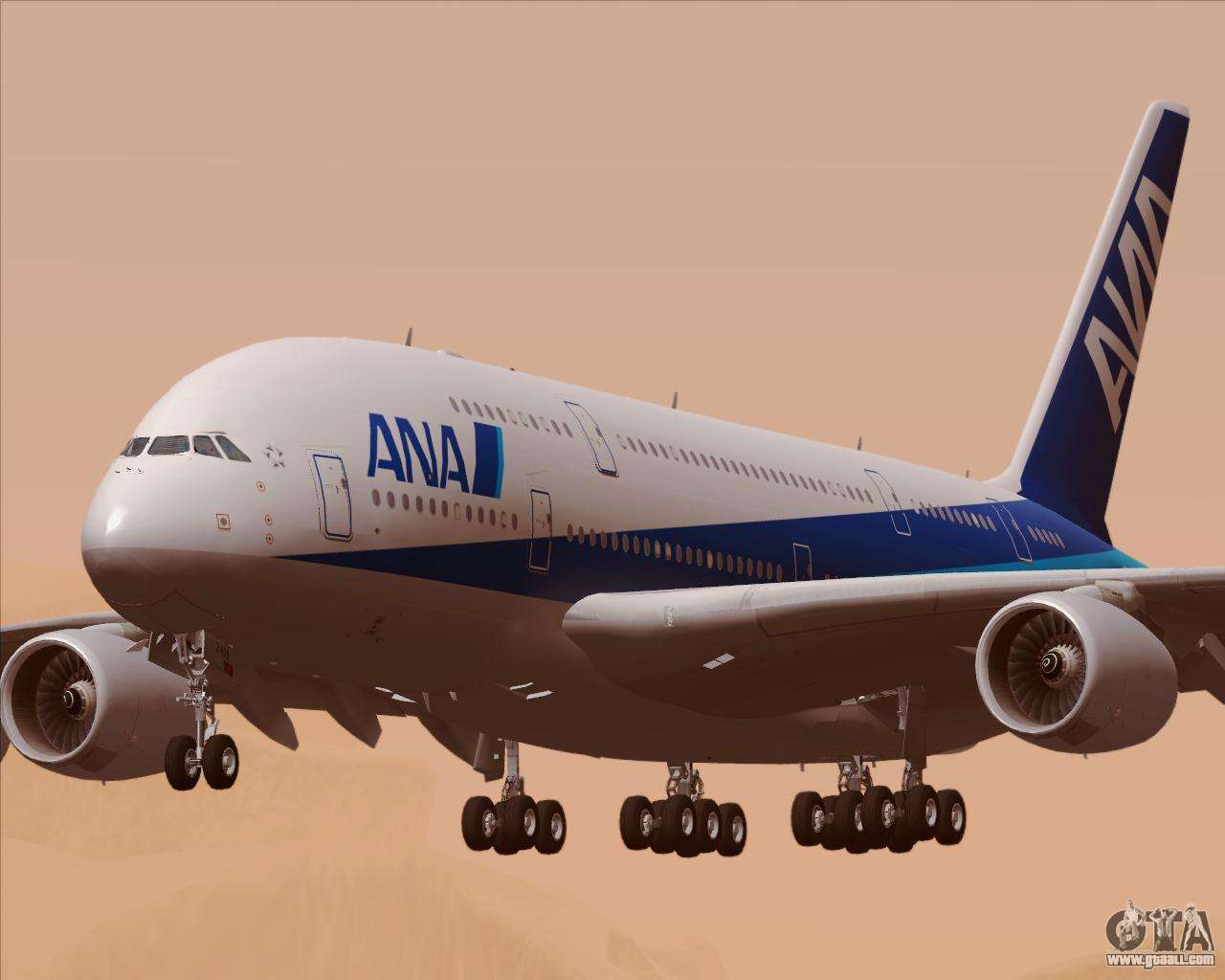 Airbus A380 800 All Nippon Airways Ana For Gta San Andreas
