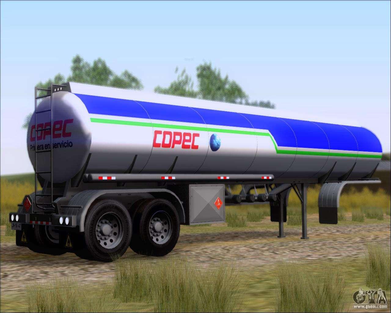 Trailer tank Carro Copec for GTA San Andreas