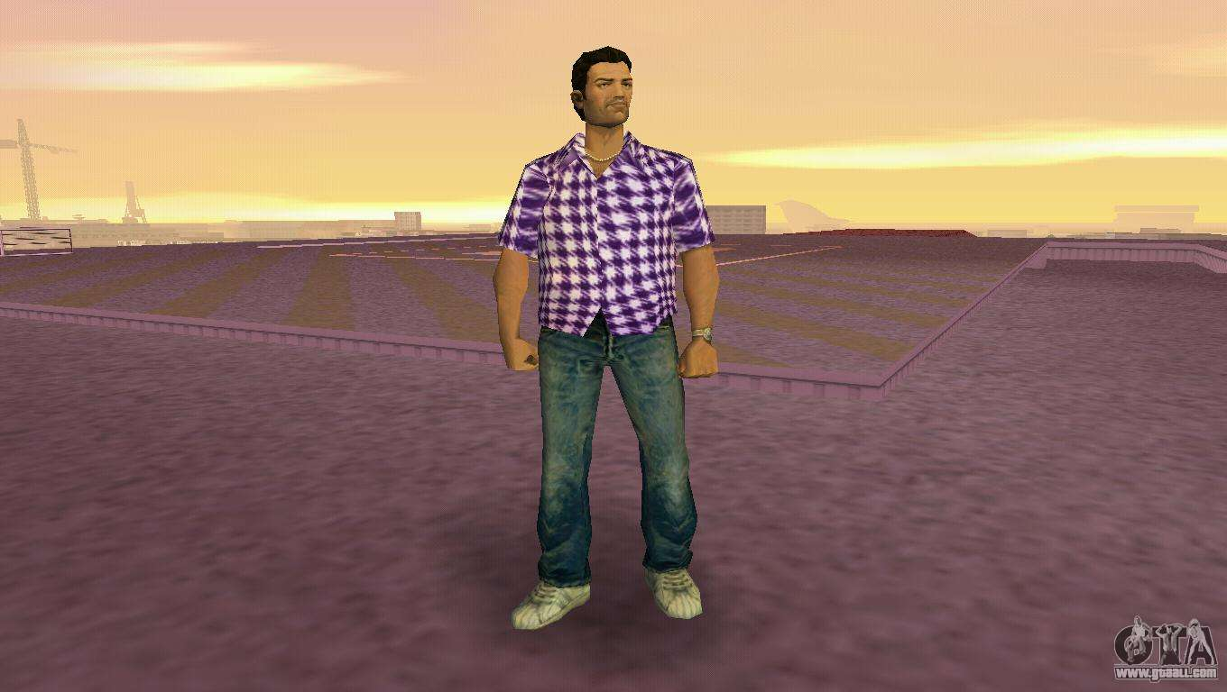 kockas polo lila t shirt for gta vice city. Black Bedroom Furniture Sets. Home Design Ideas