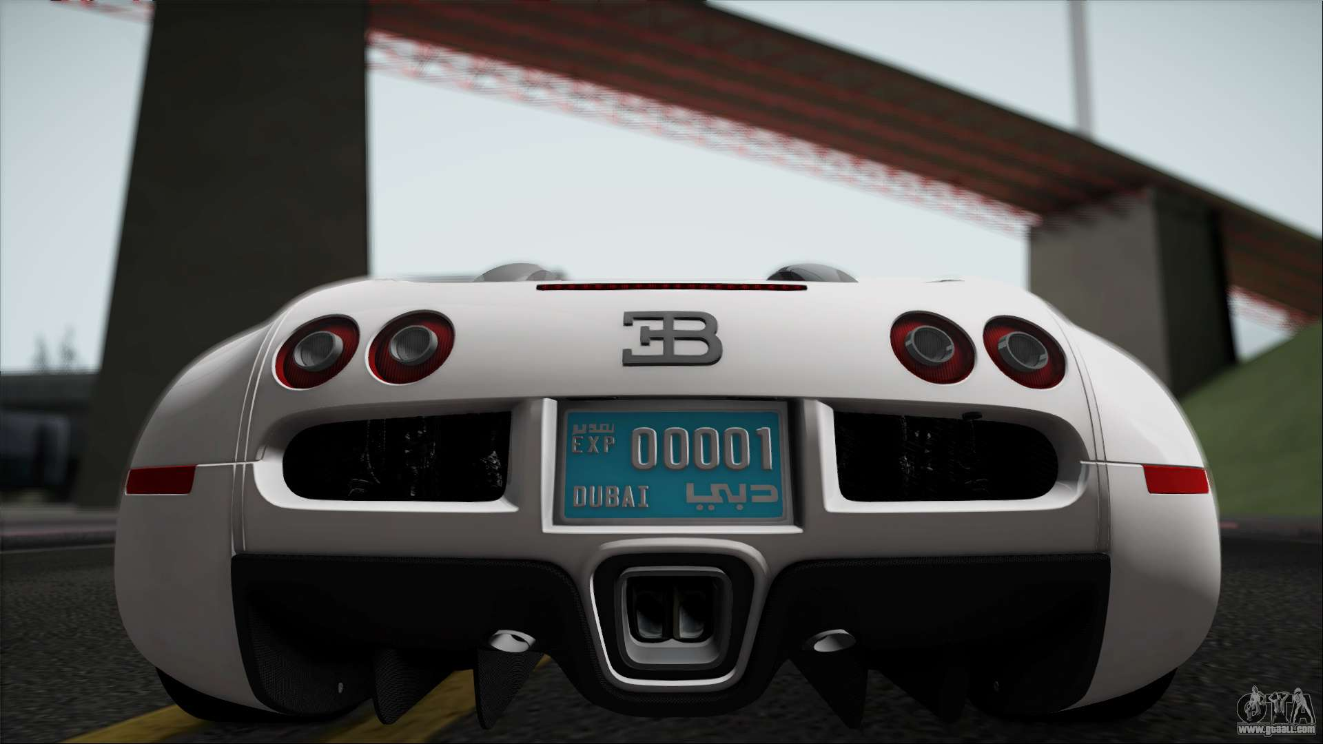 Bugatti Veyron 16.4 For GTA San Andreas Back Left View