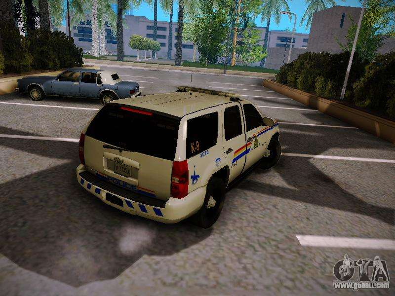 Chevrolet Tahoe 2007 Rcmp For Gta San Andreas